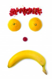 sad fruit face