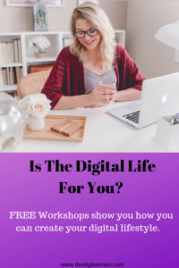 digital life workshops is the digital life for you woman at desk with laptop smiling
