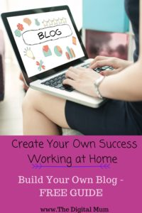 start your blog at home woman typing on laptop