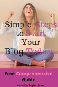 start a blog woman hands in air happy