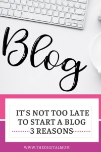 its not too late to start a blog