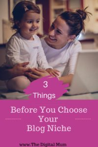 3 thing before your choose your niche