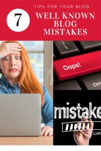 7 well known blog mistakes