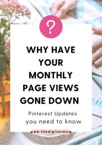 why have page views gown down on pinterest