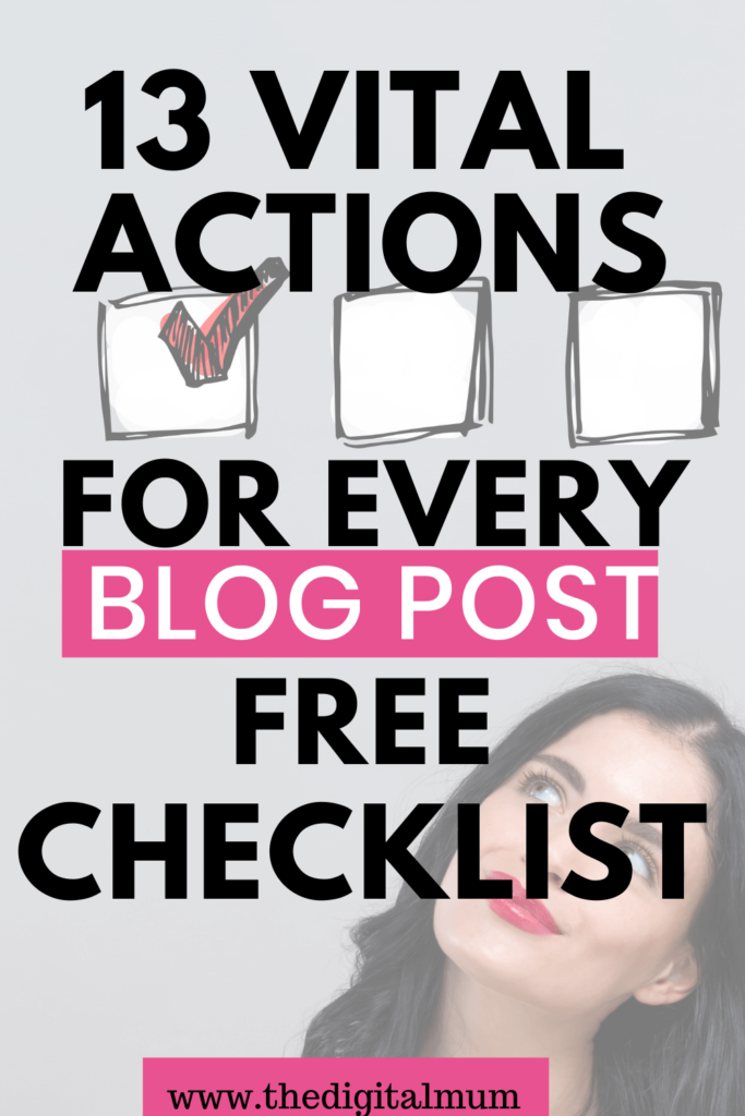 13 actions to take on blog post before you publish
