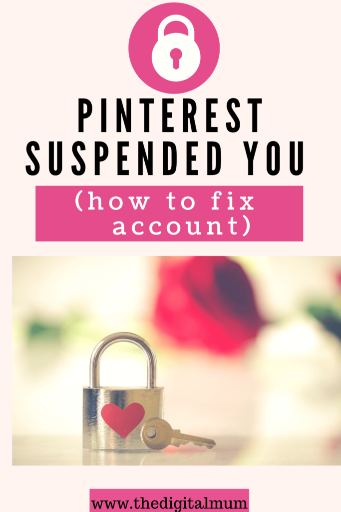 pintereest suspended your account